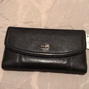 Leather Coach Wallet NWT